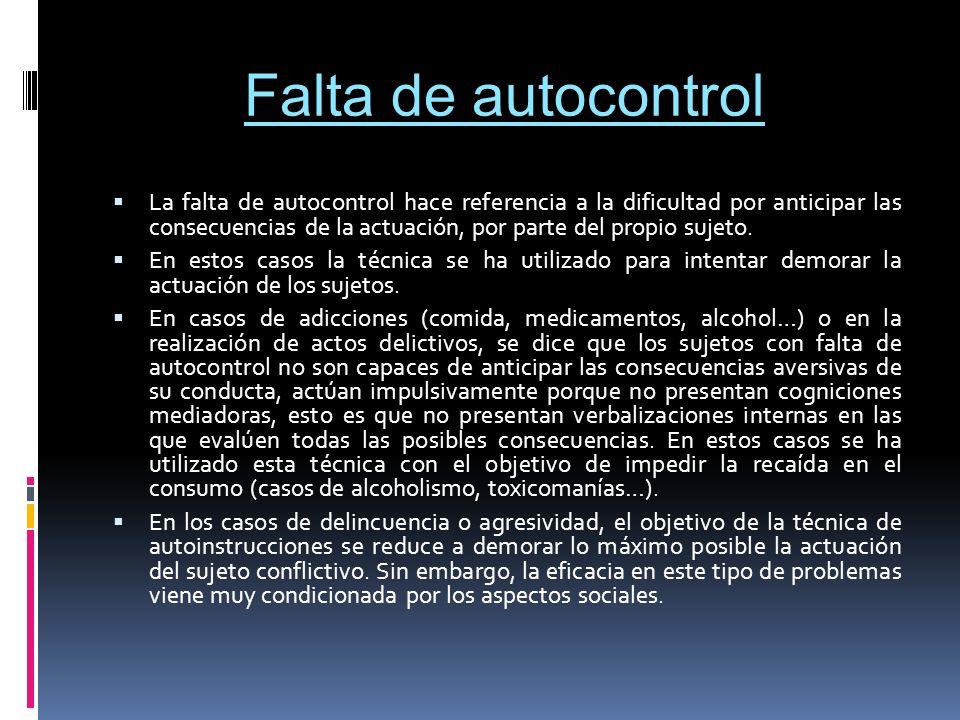 Falta de autocontrol