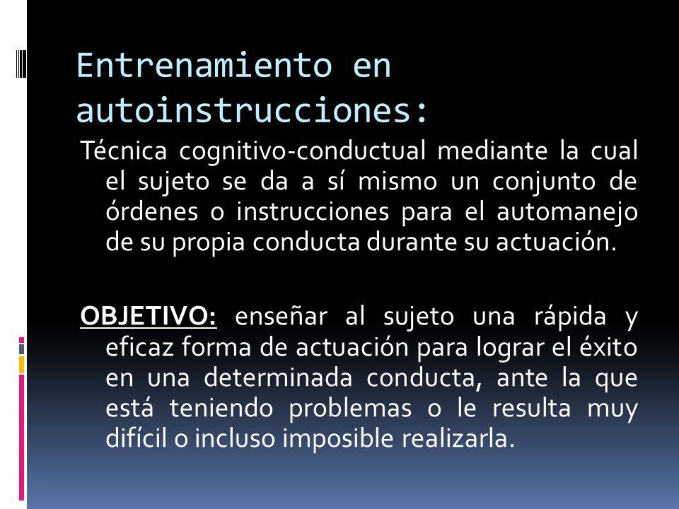 Entrenamiento en autoinstrucciones: