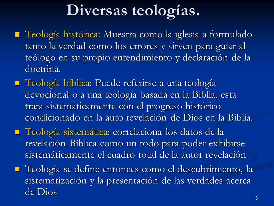 Diversas teologías.