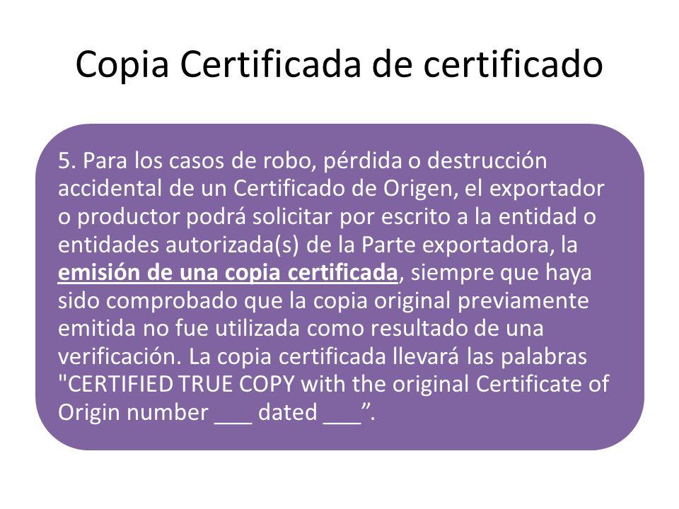 Copia Certificada de certificado