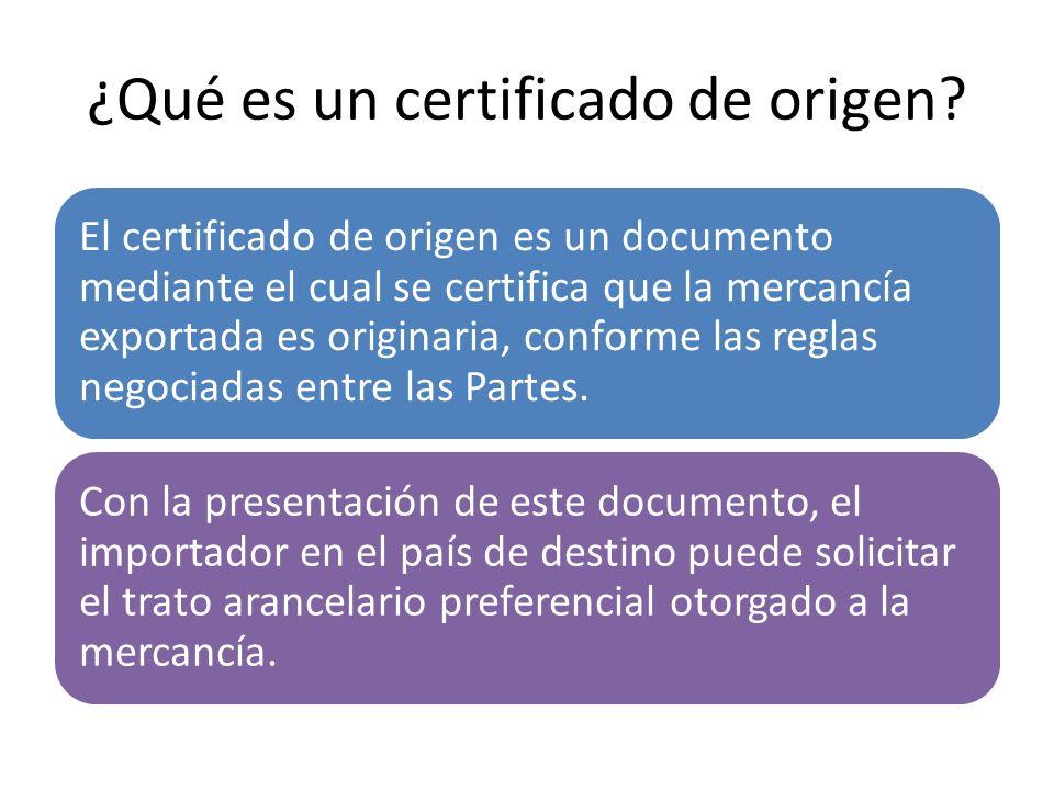 ¿Qué es un certificado de origen