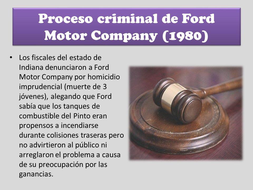 Proceso criminal de Ford Motor Company (1980)