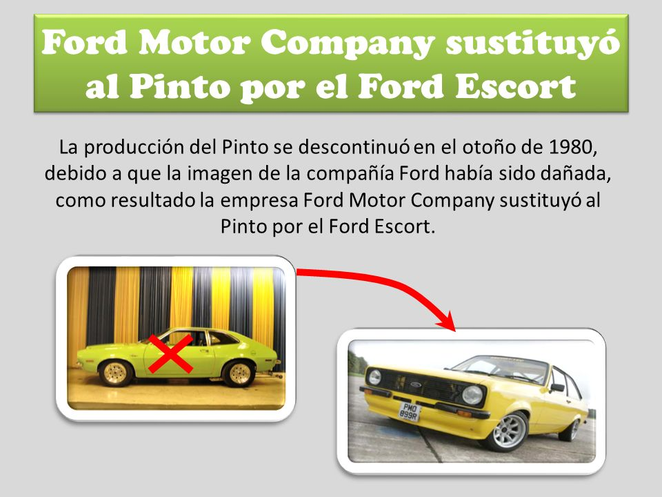 Ford Motor Company sustituyó al Pinto por el Ford Escort
