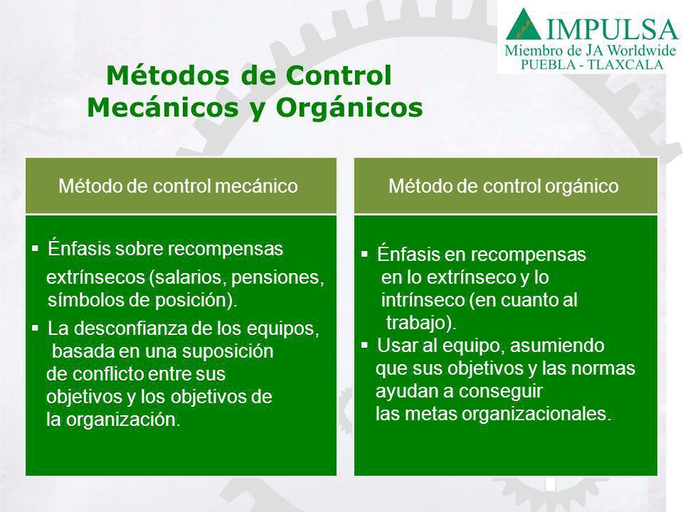 Métodos de Control Mecánicos y Orgánicos