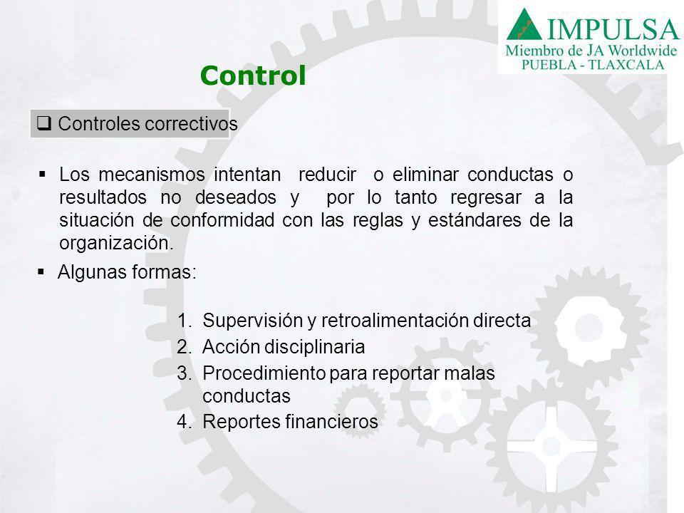Control Controles correctivos
