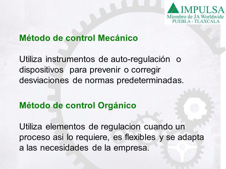 Método de control Mecánico