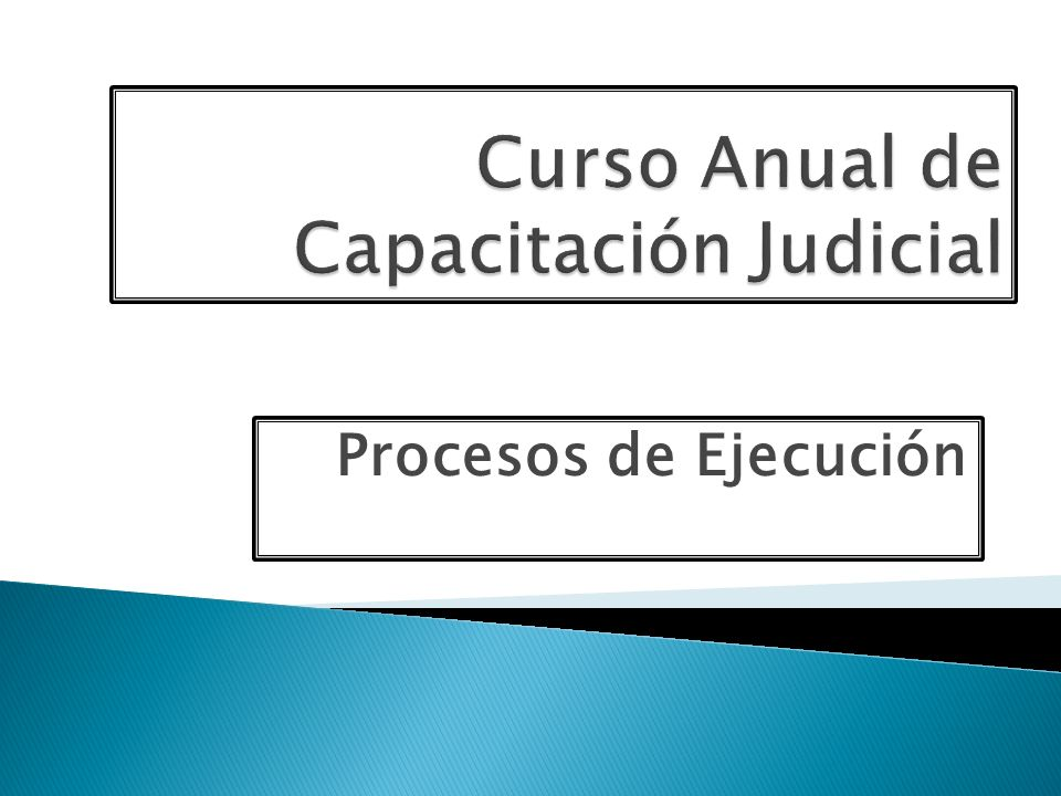 Curso Anual de Capacitación Judicial