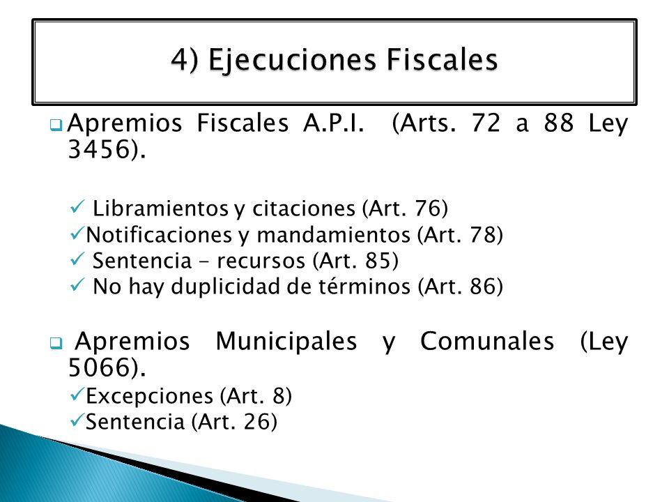 4) Ejecuciones Fiscales