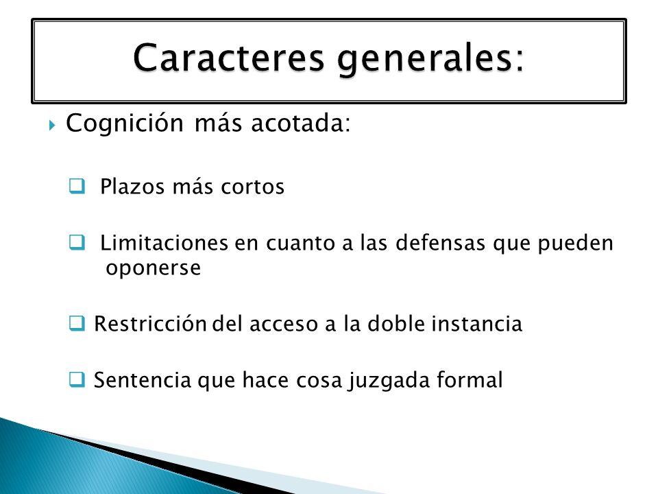 Caracteres generales: