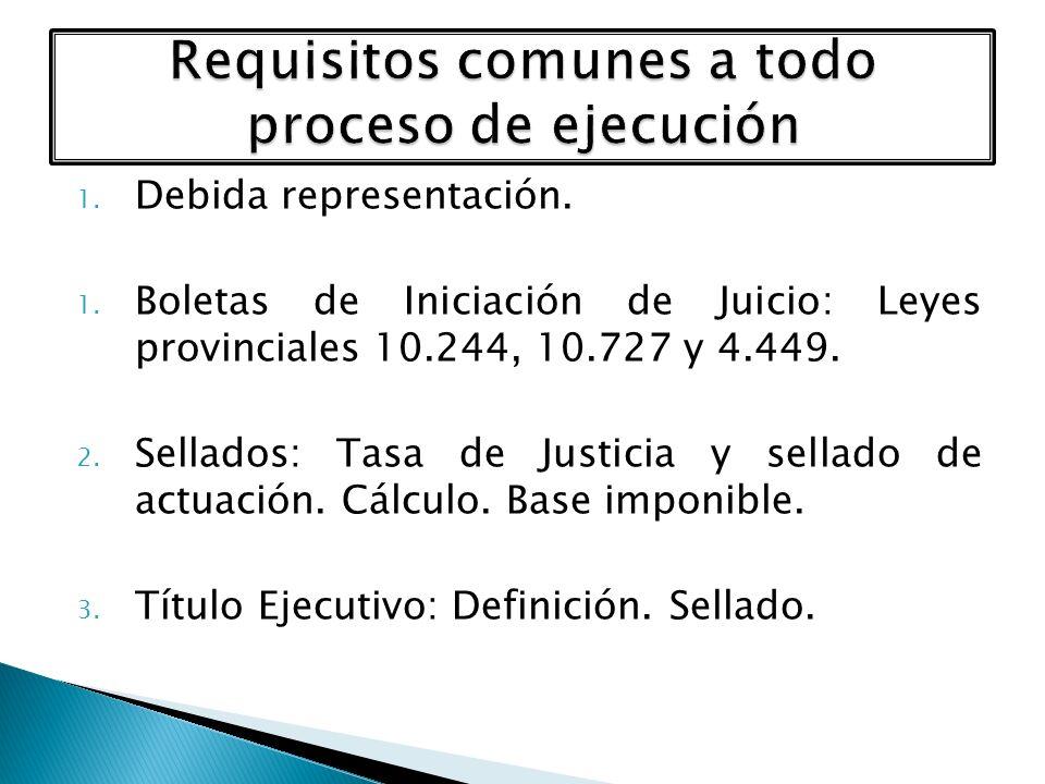 Requisitos comunes a todo proceso de ejecución