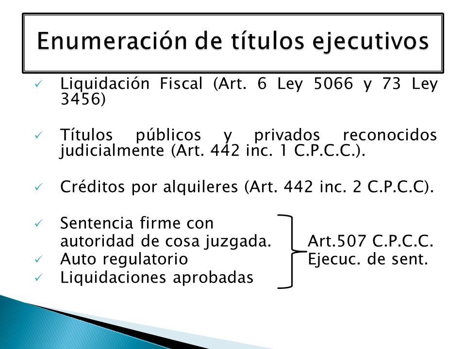 Enumeración de títulos ejecutivos