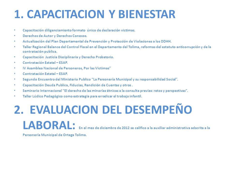 1. CAPACITACION Y BIENESTAR