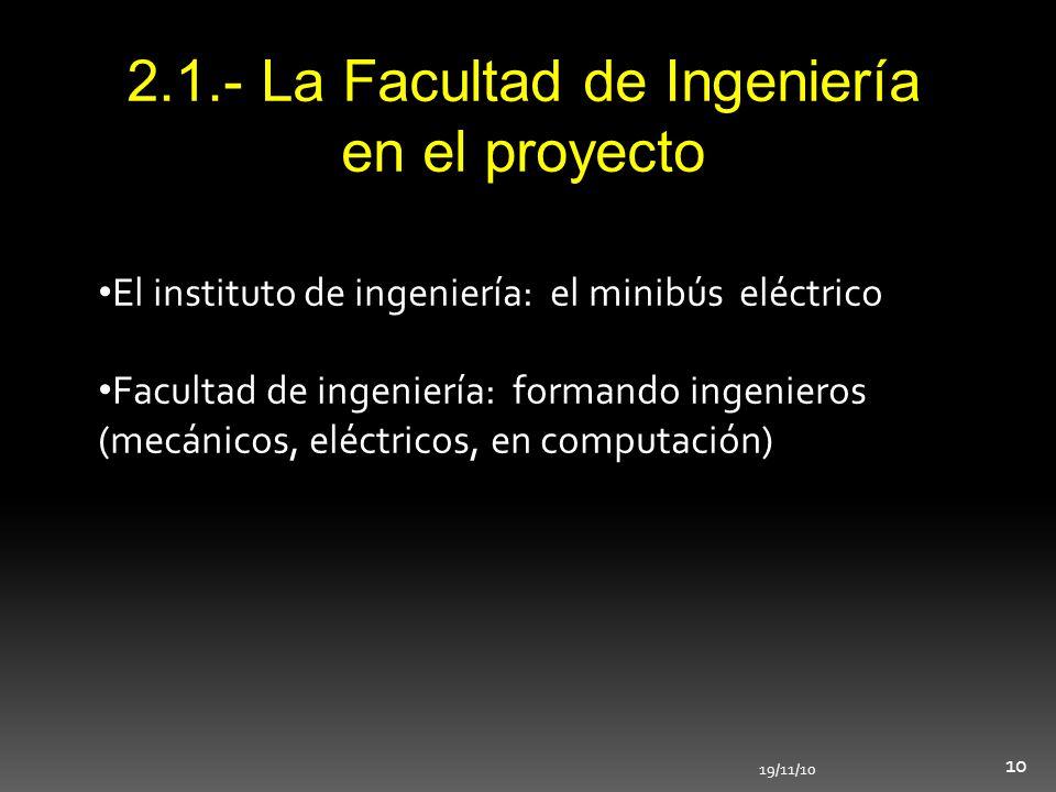 2.1.- La Facultad de Ingeniería