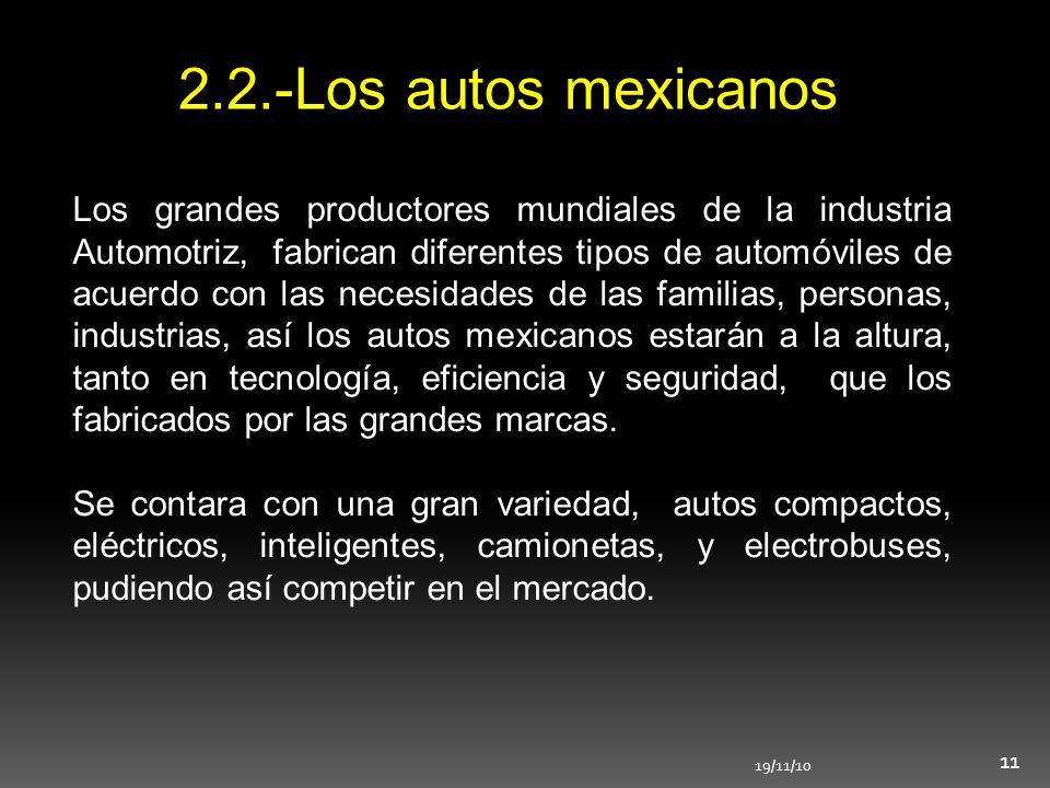 2.2.-Los autos mexicanos