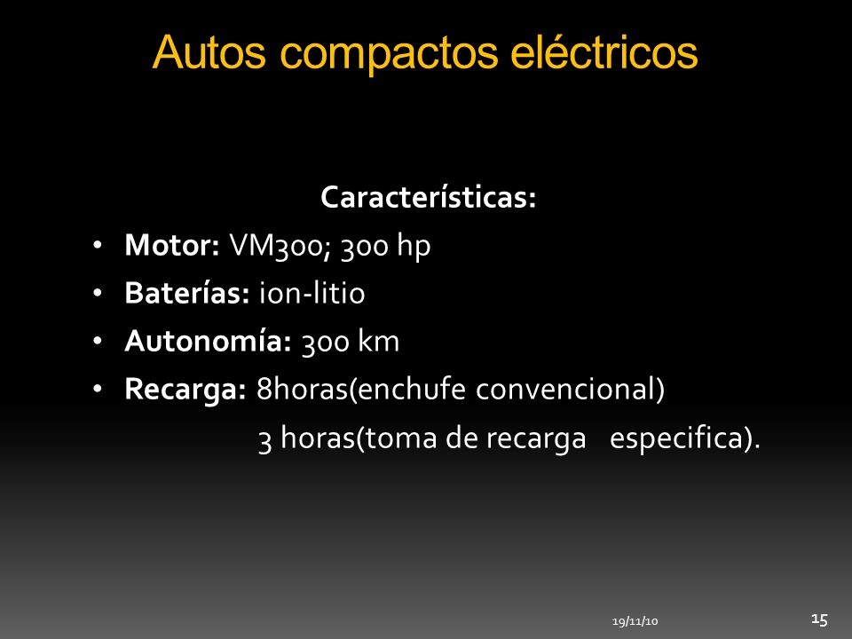 Autos compactos eléctricos