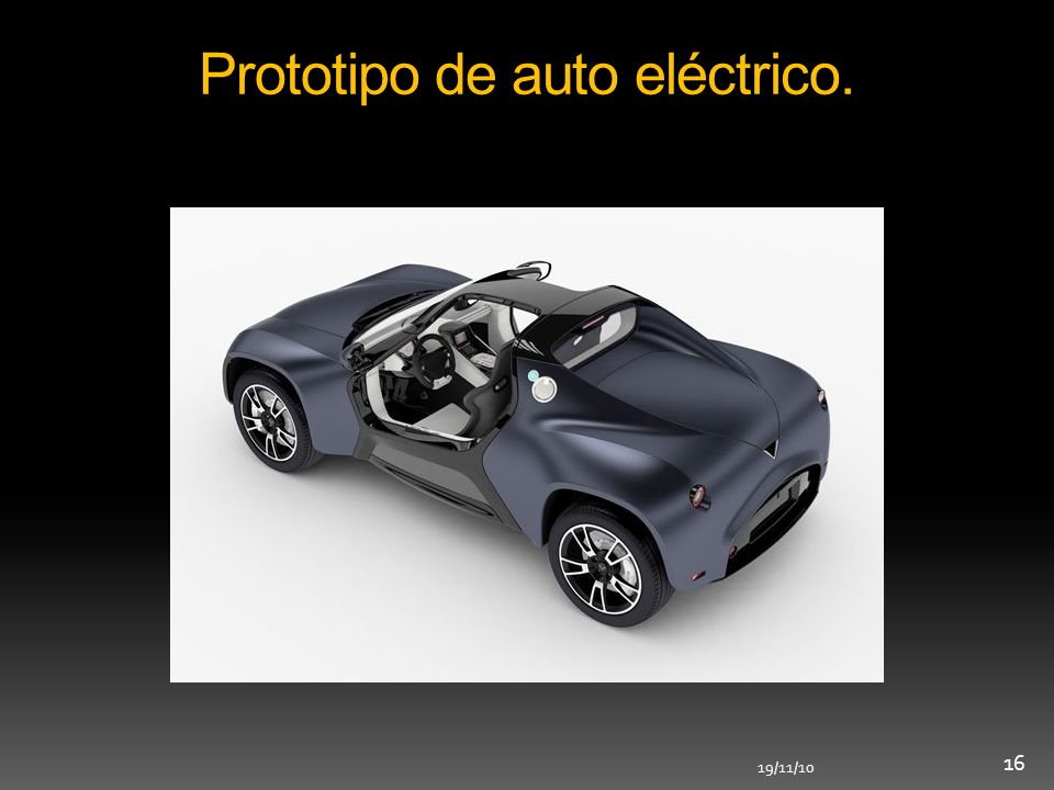 Prototipo de auto eléctrico.