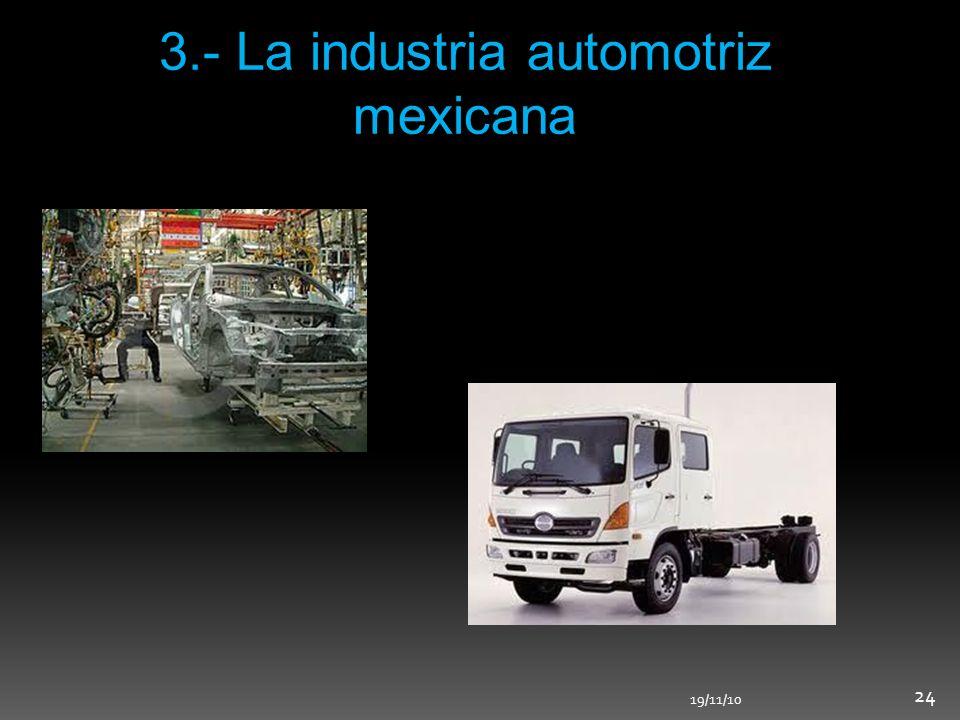 3.- La industria automotriz mexicana