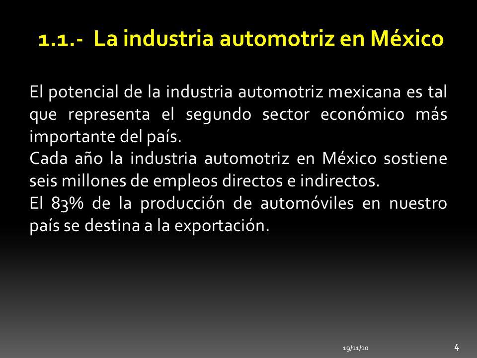 1.1.- La industria automotriz en México
