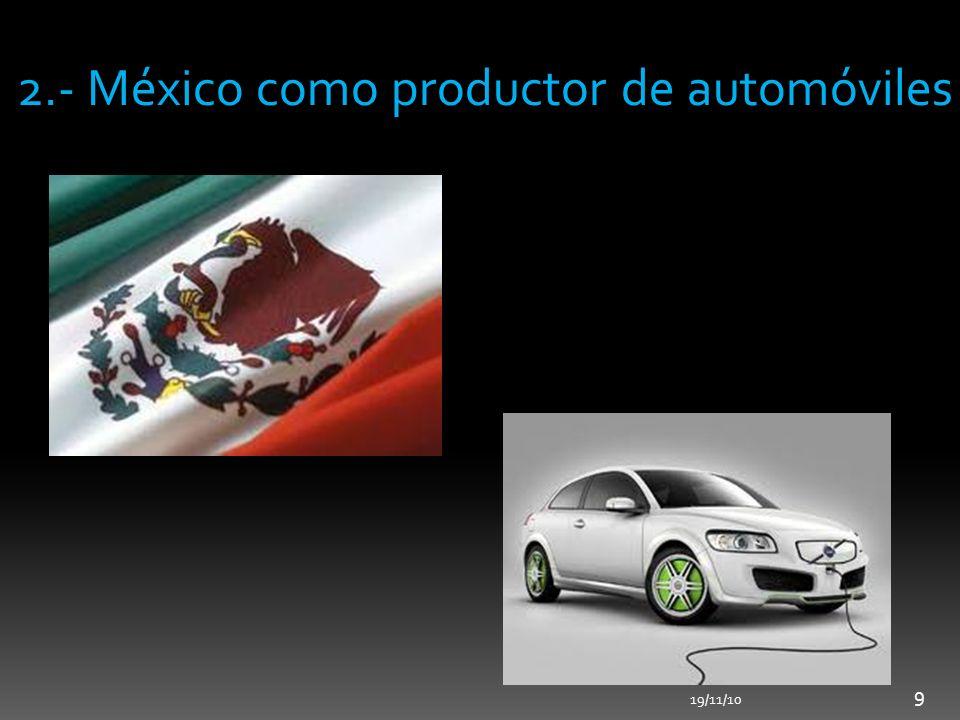 2.- México como productor de automóviles
