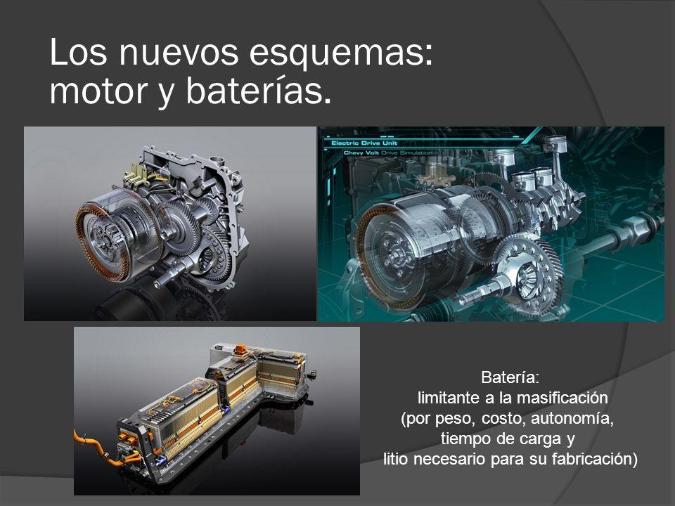 Los nuevos esquemas: motor y baterías. Batería: