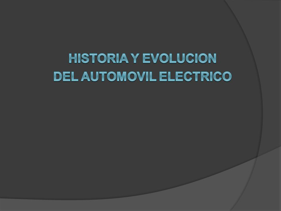DEL AUTOMOVIL ELECTRICO