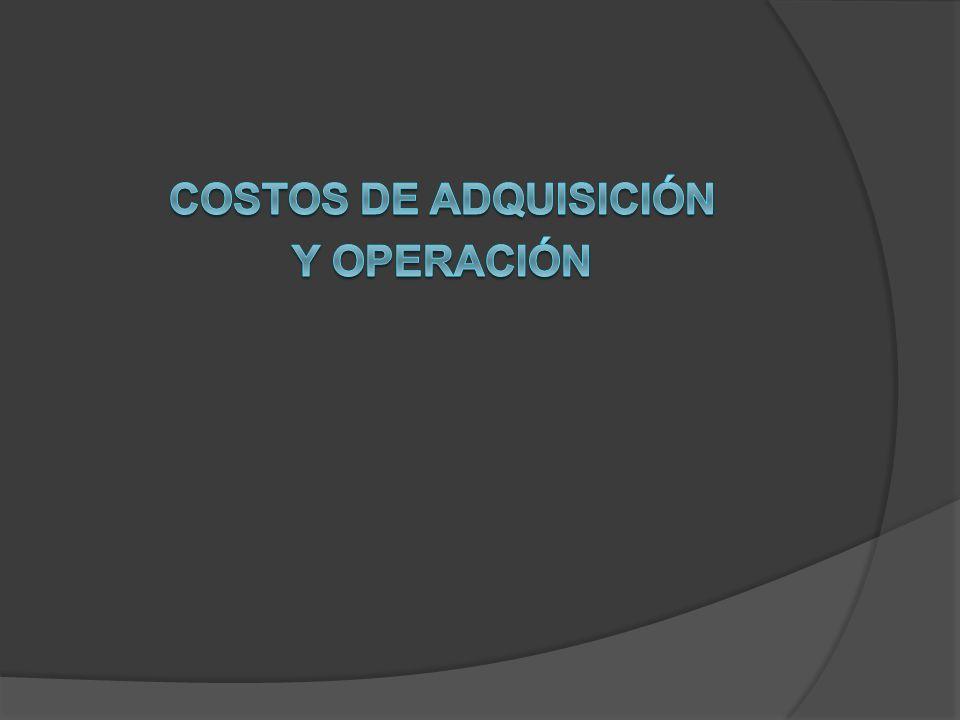 Costos de adquisición Y operación