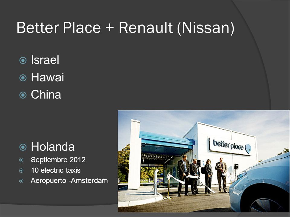 Better Place + Renault (Nissan)