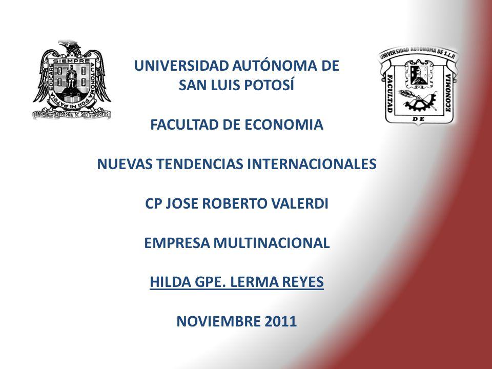 UNIVERSIDAD AUTÓNOMA DE SAN LUIS POTOSÍ FACULTAD DE ECONOMIA