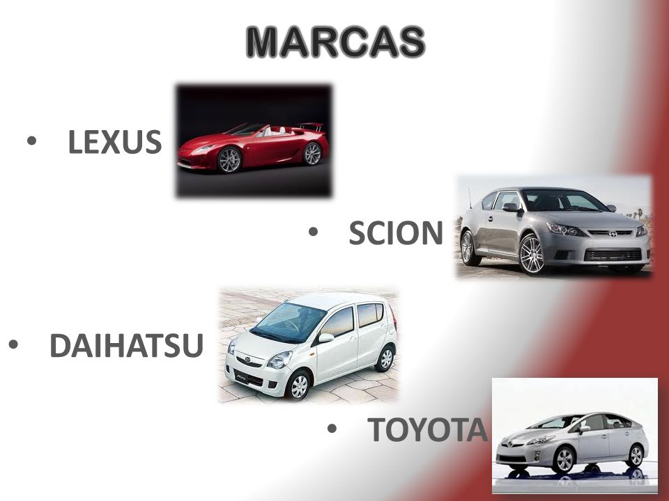 MARCAS LEXUS SCION DAIHATSU TOYOTA