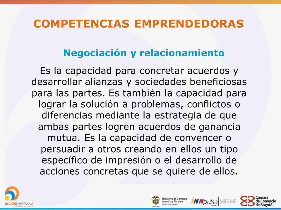 COMPETENCIAS EMPRENDEDORAS Negociación y relacionamiento
