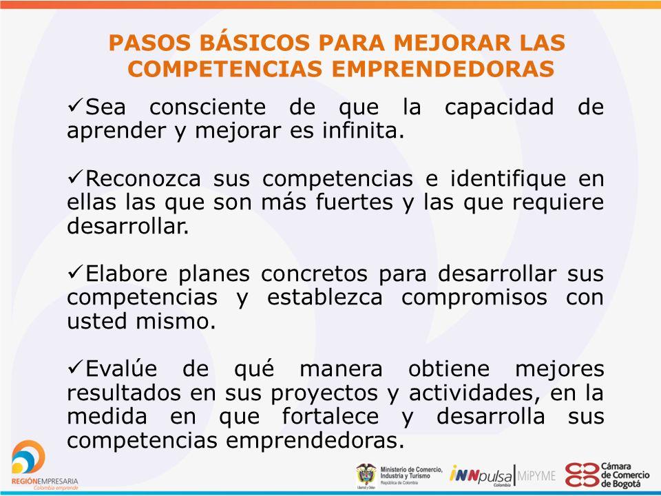 PASOS BÁSICOS PARA MEJORAR LAS COMPETENCIAS EMPRENDEDORAS