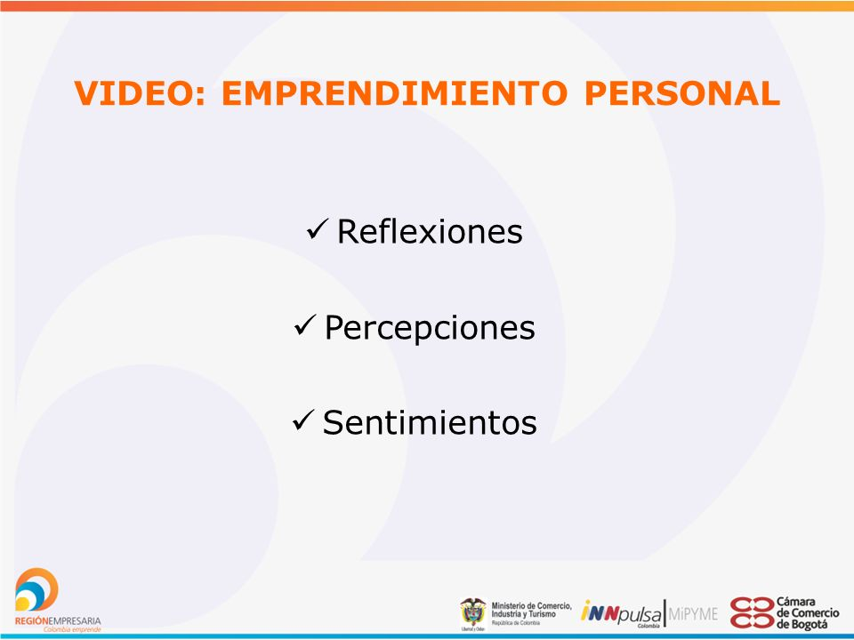 VIDEO: EMPRENDIMIENTO PERSONAL