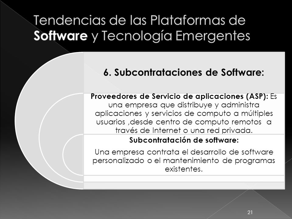 Tendencias de las Plataformas de Software y Tecnología Emergentes