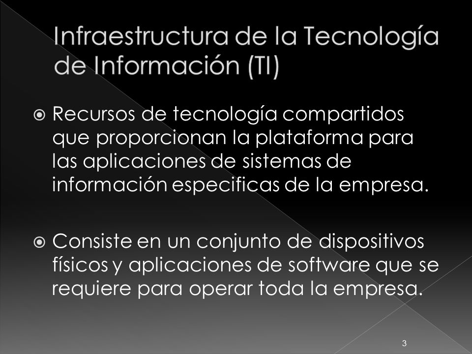 Infraestructura de la Tecnología de Información (TI)