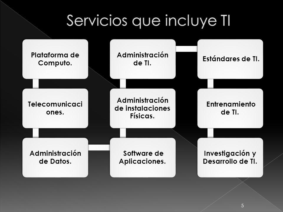 Servicios que incluye TI