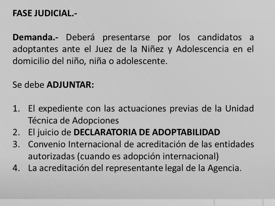 FASE JUDICIAL.-