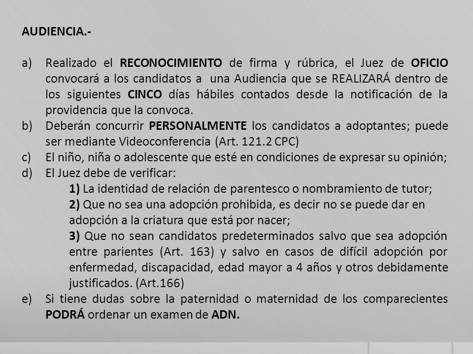 AUDIENCIA.-