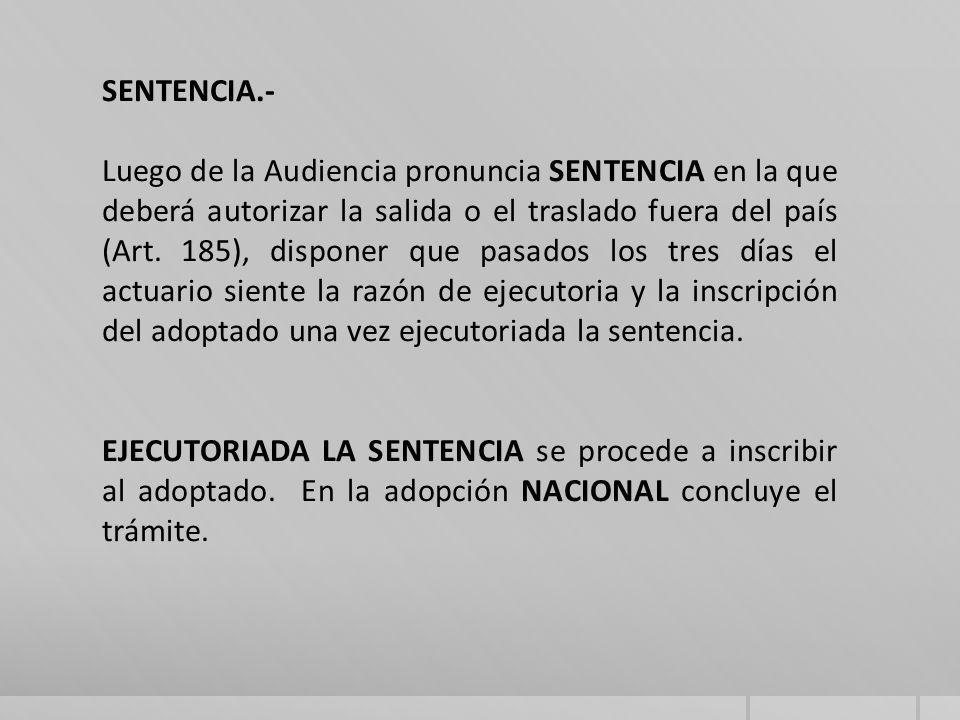 SENTENCIA.-