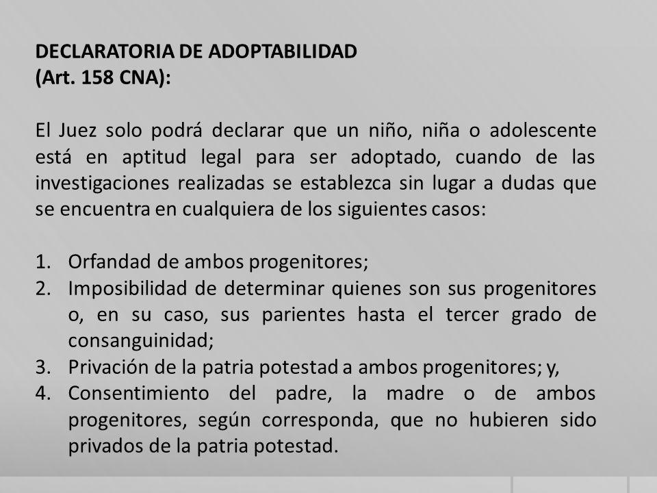 DECLARATORIA DE ADOPTABILIDAD