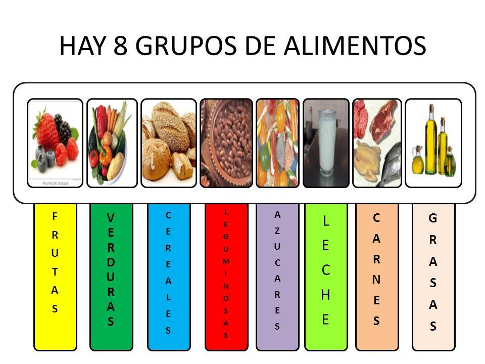 HAY 8 GRUPOS DE ALIMENTOS