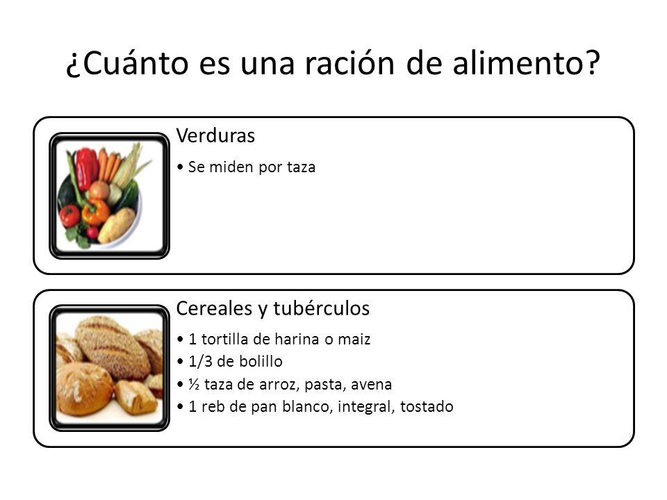 ¿Cuánto es una ración de alimento