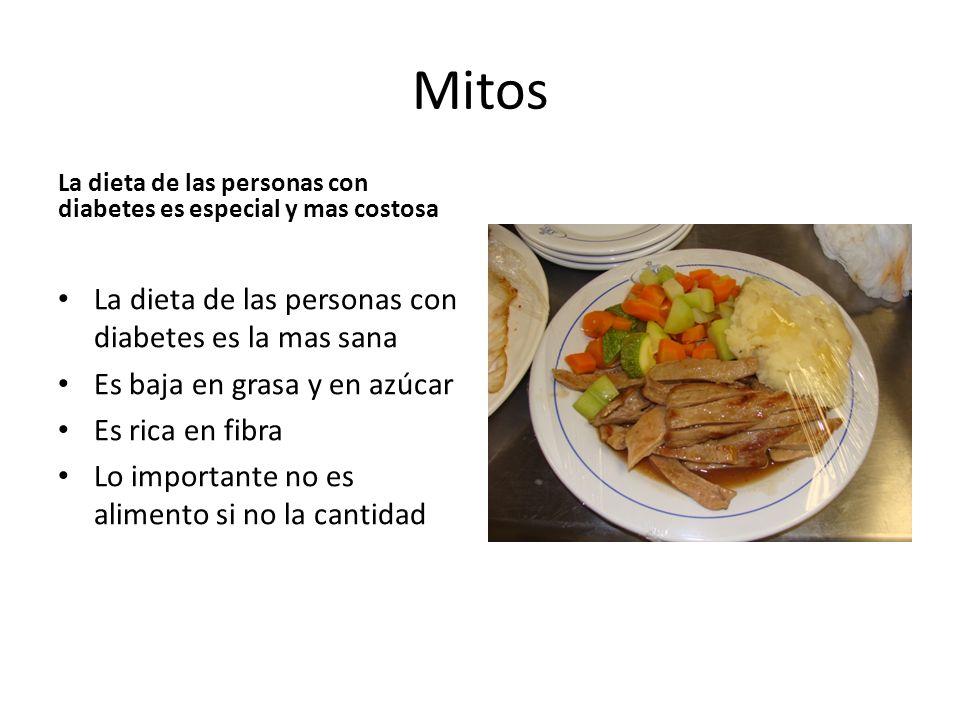 Mitos La dieta de las personas con diabetes es la mas sana