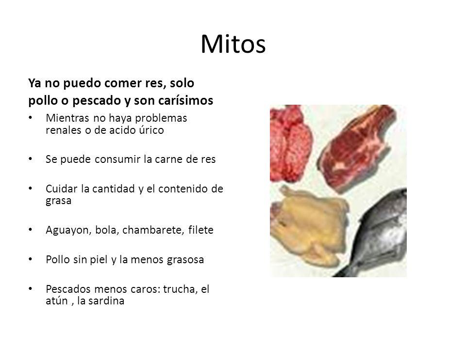 Mitos Ya no puedo comer res, solo pollo o pescado y son carísimos