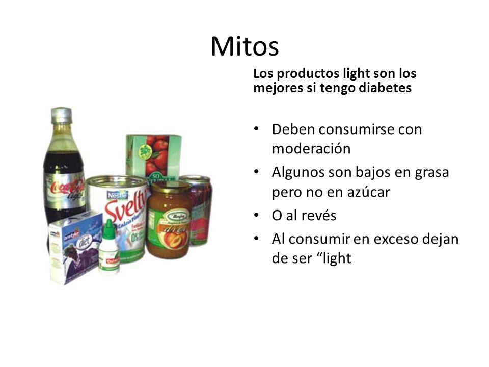 Mitos Deben consumirse con moderación