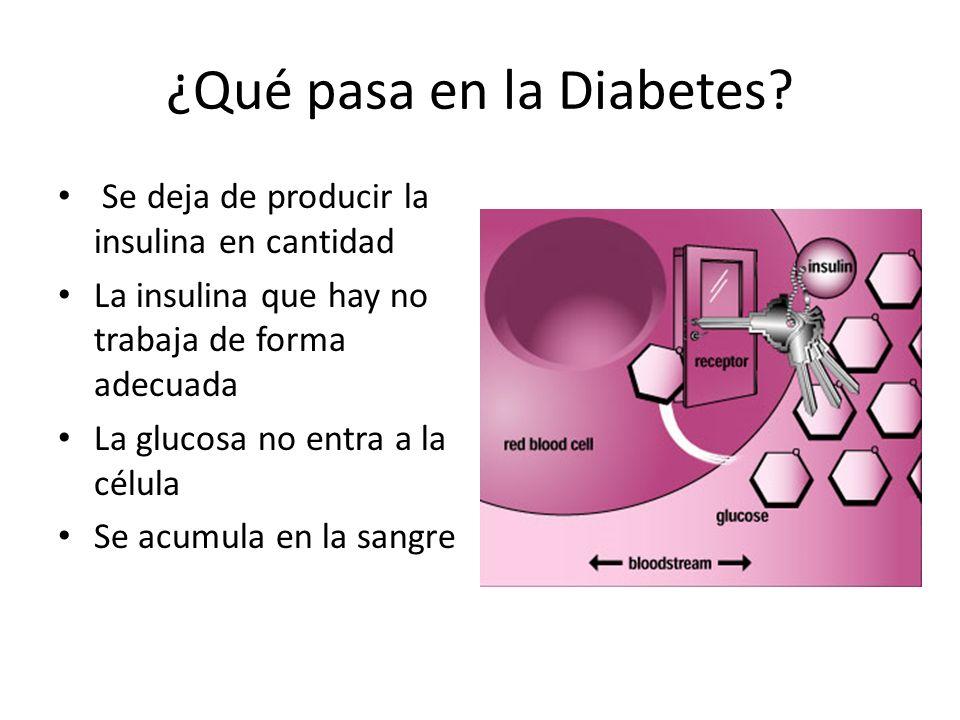 ¿Qué pasa en la Diabetes