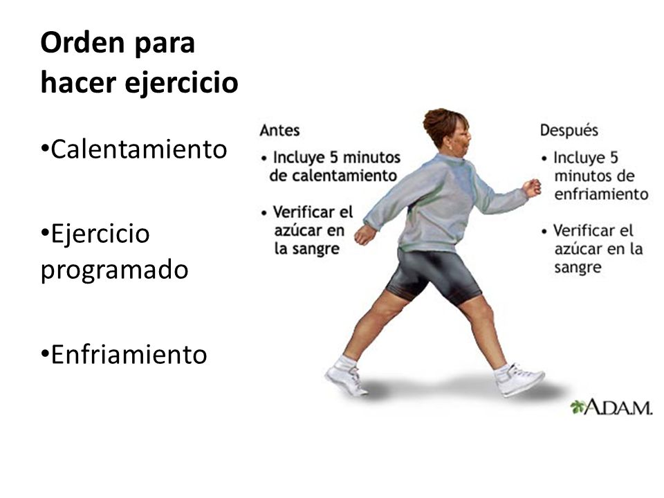 Orden para hacer ejercicio