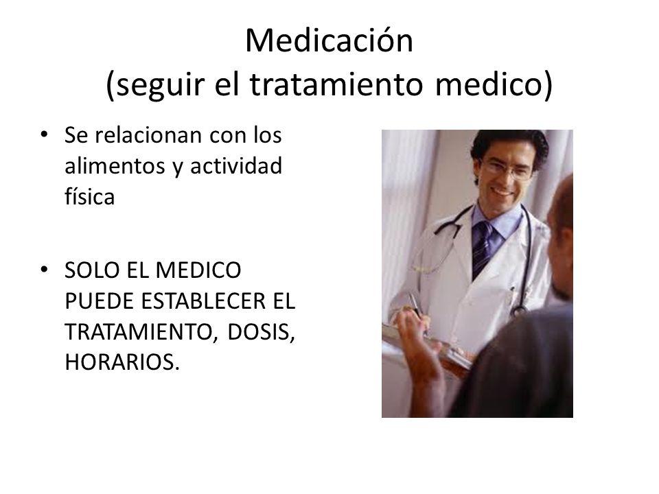 Medicación (seguir el tratamiento medico)