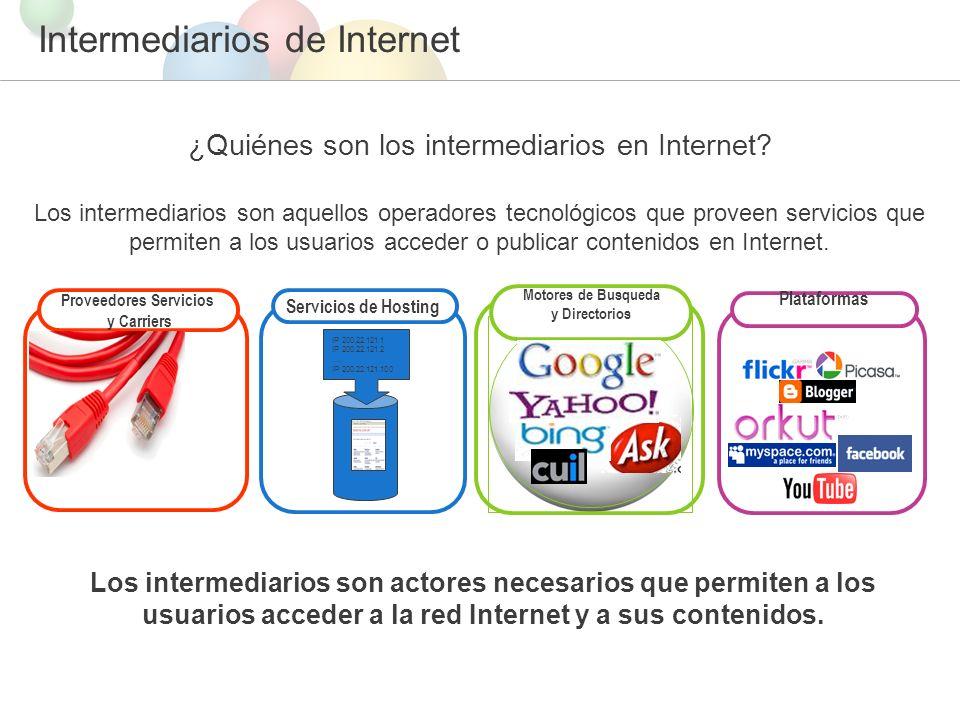 Intermediarios de Internet