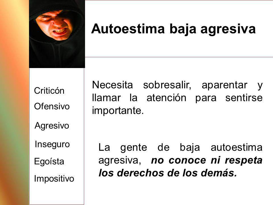 Autoestima baja agresiva