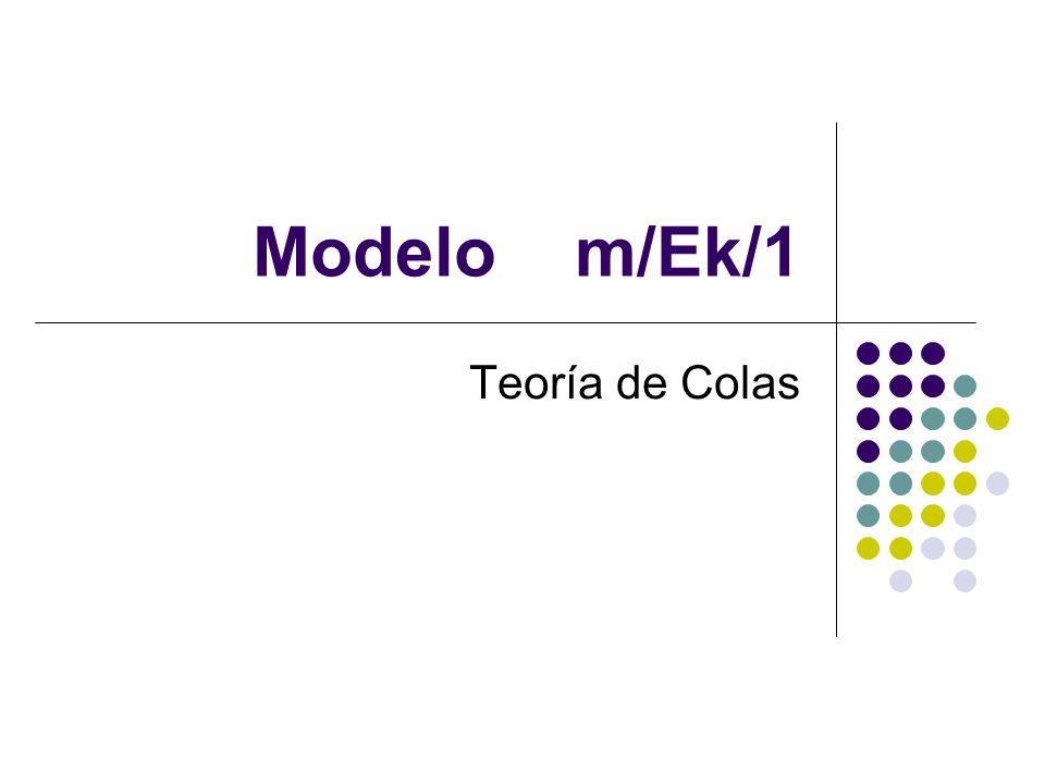 Modelo m/Ek/1 Teoría de Colas